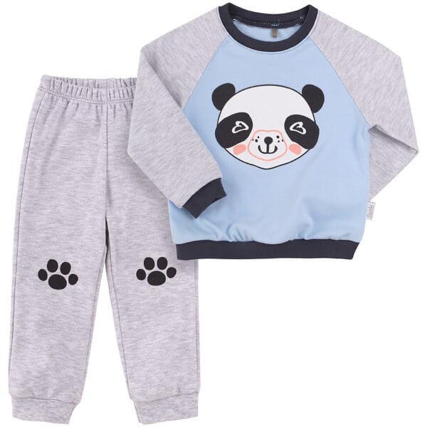 Komplet niemowlęcy Bembi 2 części KS576 bawełniany motyw panda lub jednorożec kolekcja NEWBORN dla niemowląt