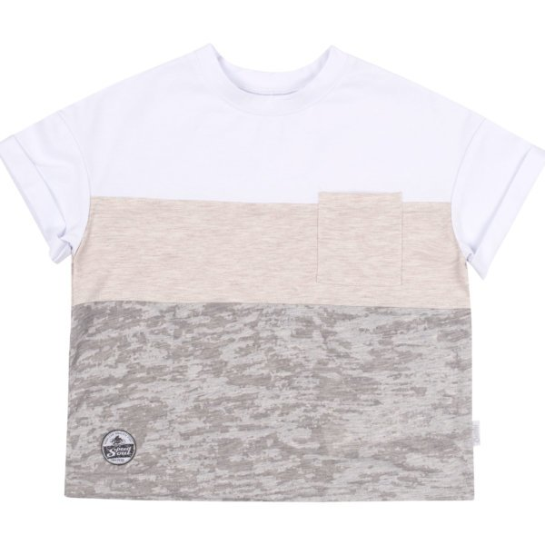 Koszulka z krótkim rękawem tshirt chłopięcy na lato bawełniany pastelowy Bembi FB698 kolekcja LATO 2020