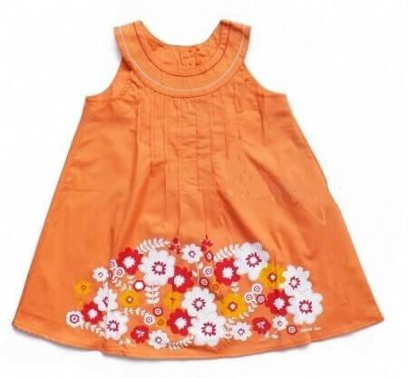 Pomarańczowa letnia sukienka dla dziewczynki w stylu boho Bembi PL115 kolekcja LATO wyprzedaż