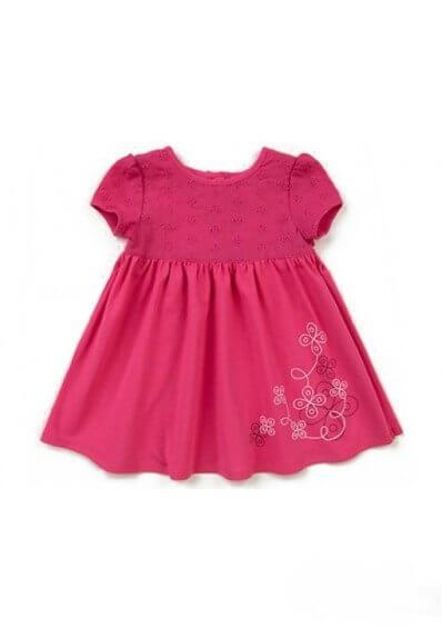Bawełniana letnia sukienka dla małej dziewczynki różowa malinowa Bembi PL122 kolekcja LATO wyprzedaż
