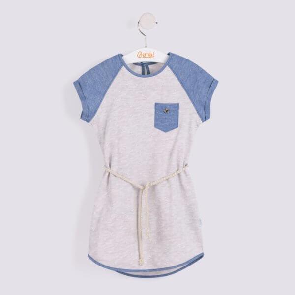 Modna luźna sukienka dla dziewczynki r.122-140 cm. w sportowym stylu Bembi PL142 kolekcja LATO wyprzedaż
