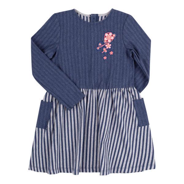 Sukienka z dzianiny w paski dla dziewczynki BEMBI