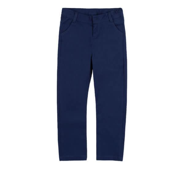 Granatowe spodnie bawełniane z kieszeniami