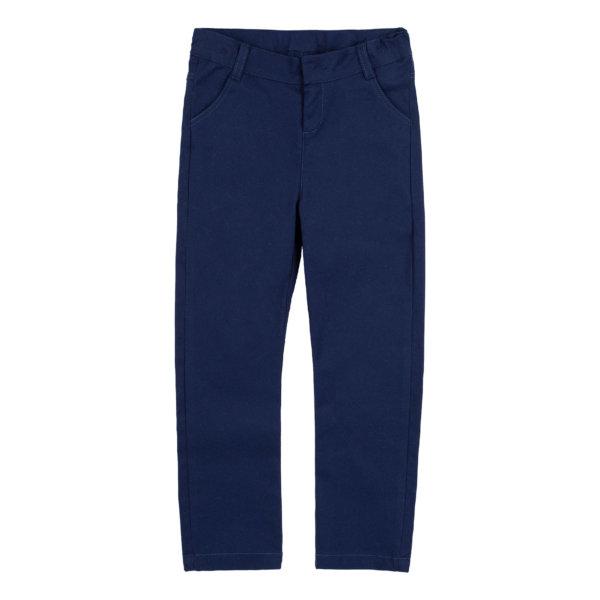 Granatowe spodnie bawełniane z kieszeniami BEMBI