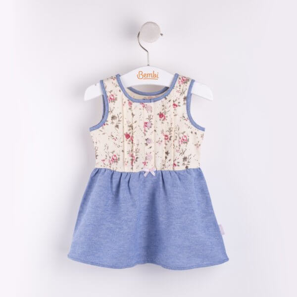 Letnia sukienka dla małej dziewczynki bawełniana dwa kolory do wyboru Bembi PL143 kolekcja LATO wyprzedaż