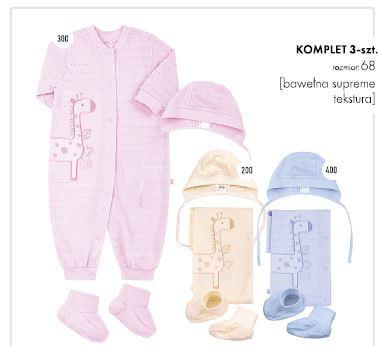 Komplet niemowlęcy 3 częściowy bawełniany 3 kolory do wyboru wyprawka Bembi KP103 kolekcja NEWBORN dla niemowląt