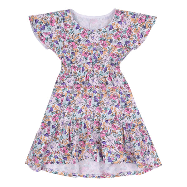 Letnia sukienka w drobne kwiatki Bembi PL276 zwiewna bawełniana kolekcja LATO 2020