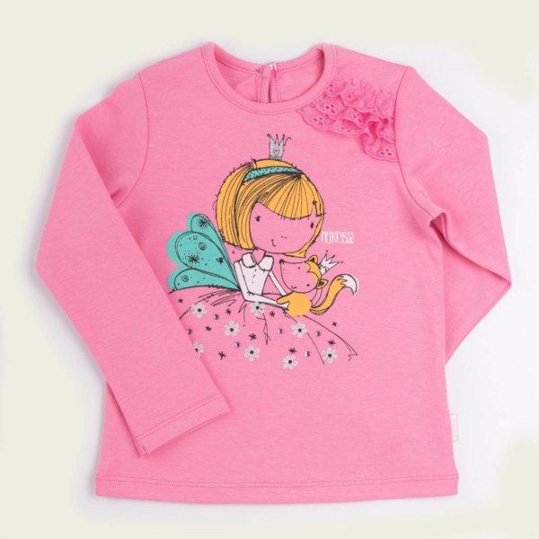 Koszulka dziewczęca na długi rękaw BEMBI różowa turkusowa FB580