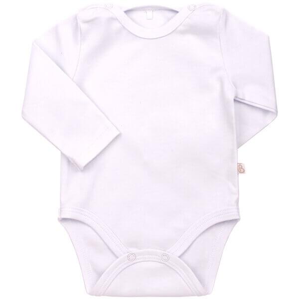 Body niemowlęce białe długi rękaw bawełna BEMBI BD108