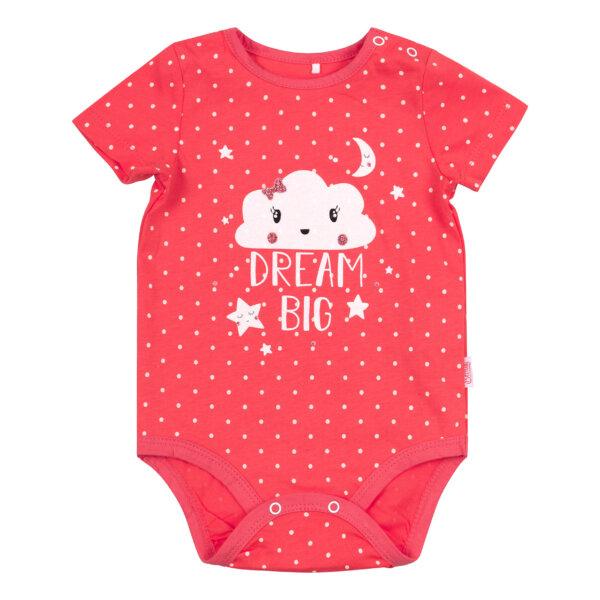 Body niemowlęce koralowe dla dziewczynki, bawełna BEMBI BD153
