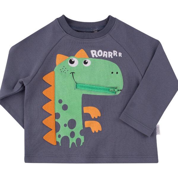 Bluzka chłopięca dzianina niebieska zielona dinozaur pies BEMBI FB583