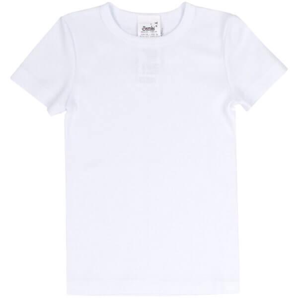 Koszulka chłopięca bawełna biała basic BEMBI FB634