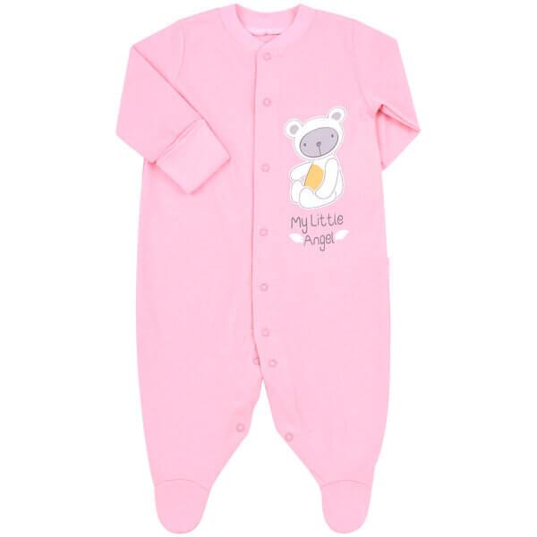 Pajacyk niemowlęcy bawełna niebieski różowy zielony newborn BEMBI KB122