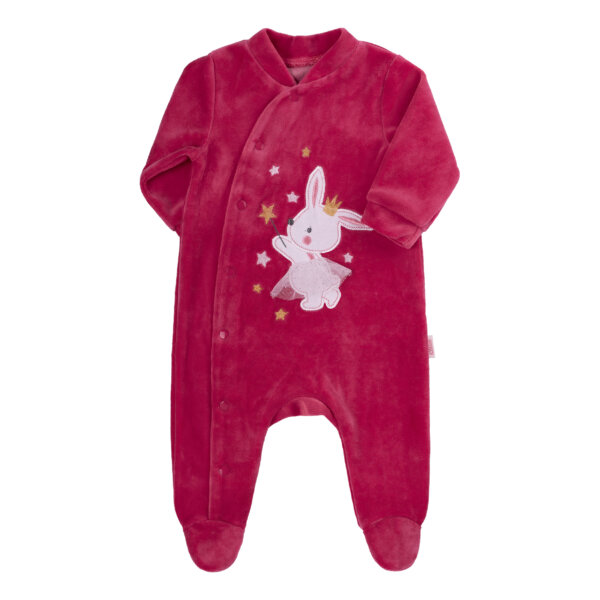 Pajacyk niemowlęcy welur dziewczynka króliczek newborn BEMBI KB147