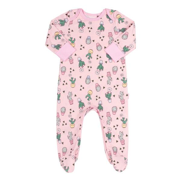 Pajacyk niemowlęcy bawełna dziewczynka różowy newborn BEMBI KB152